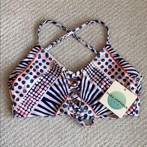 NWT Mara Hoffman Lattice Halter Swim Bikini Top